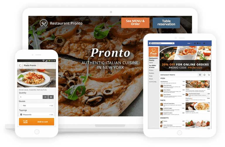 tio design hull online ordering system and web design