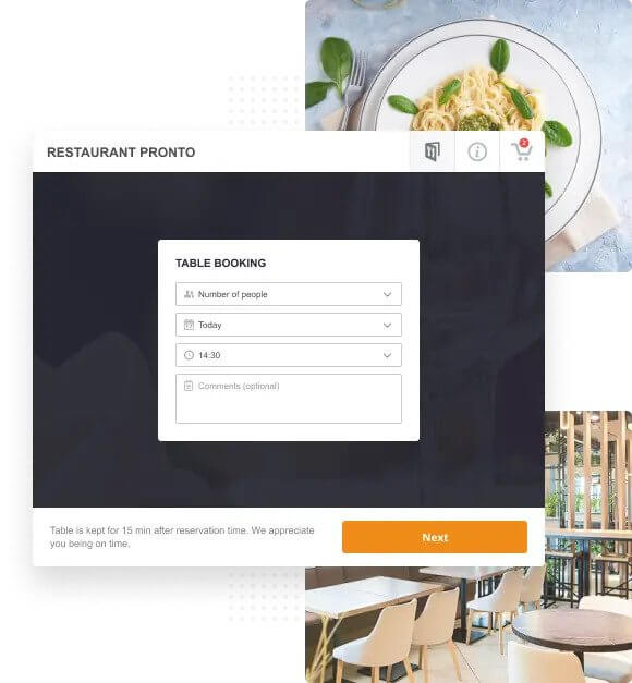 tio design online table booking for restaurants